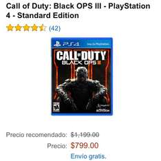 Amazon: Call of Duty: Black OPS III para PS4 a $799