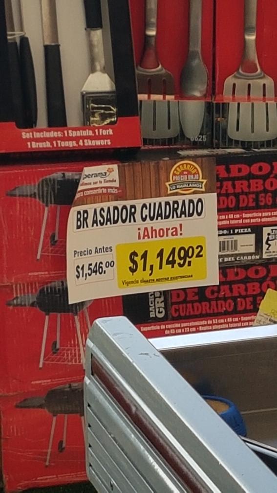 Superama San Jerónimo: Asador Cuadrado a $1,149.02