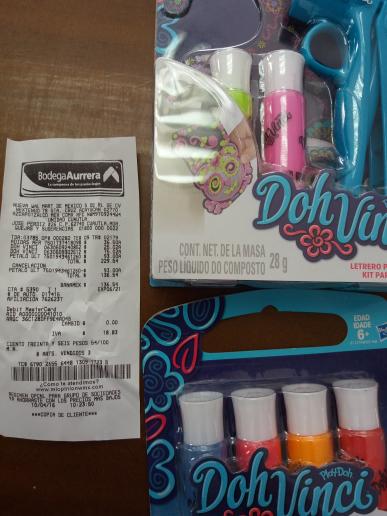 Bodega Aurrerá Cuautla: Doh Vinci para decorar con aplicador a $75.02, tubos de repuesto a $25.02