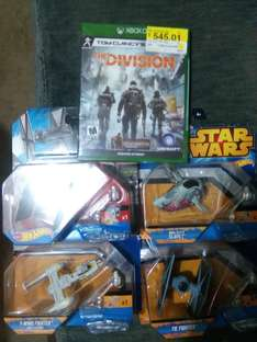 Bodega Aurrerá 31 pte: naves Star Wars Hot Wheels a $45.02, The Division Xbox One a $545.01