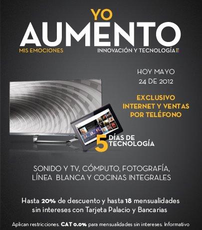 Palacio de Hierro: 20% de descuento y hasta 18 MSI en sonido, TV, cómputo y más