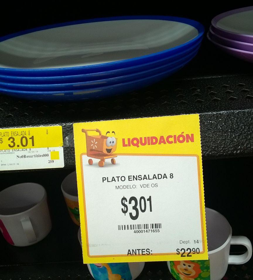 Walmart: Plato a $3.01 y más