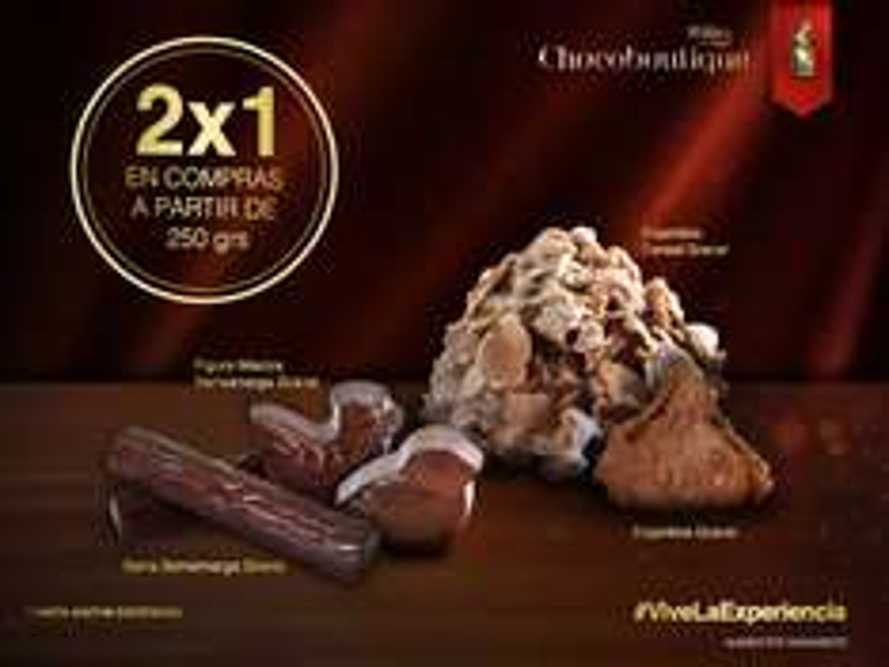 Tiendas Turin: 2x1 250 gramos de chocolate