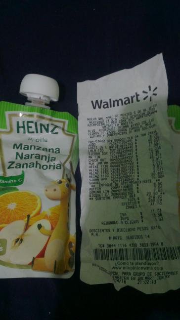 Walmart Triana: papilla heinz a $2.01