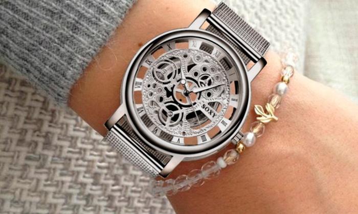 Groupon: Reloj Classic Luxury Silver en acero inoxidable con envío