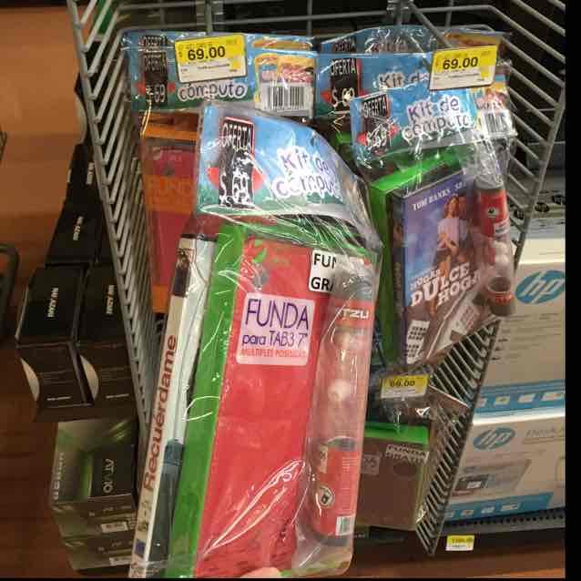 """Walmart: kit de funda para tablet 7"""", audífonos y película"""