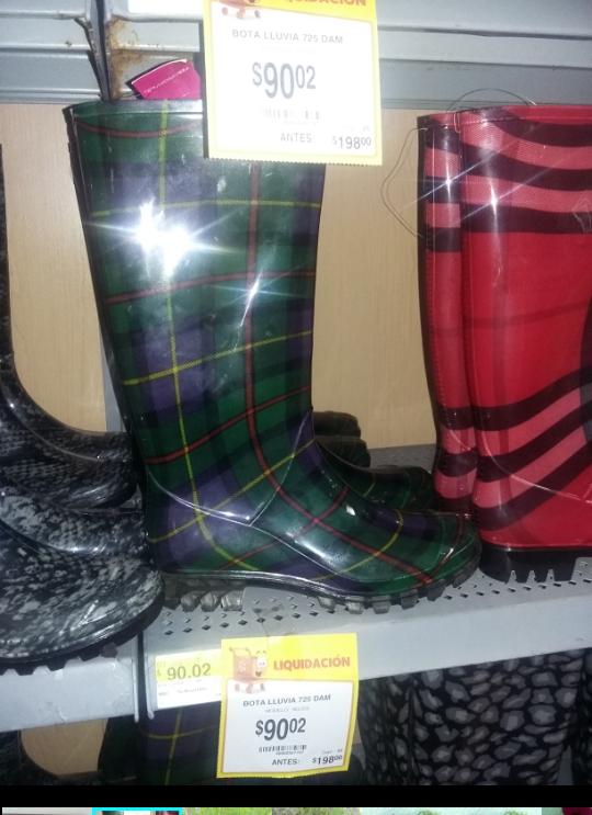 Walmart Chilpancingo: Botas de lluvia a $90.02