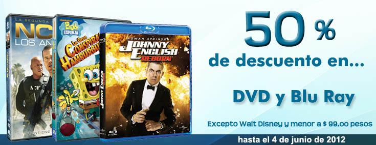 Sanborns: 50% de descuento en blu-rays y DVDs