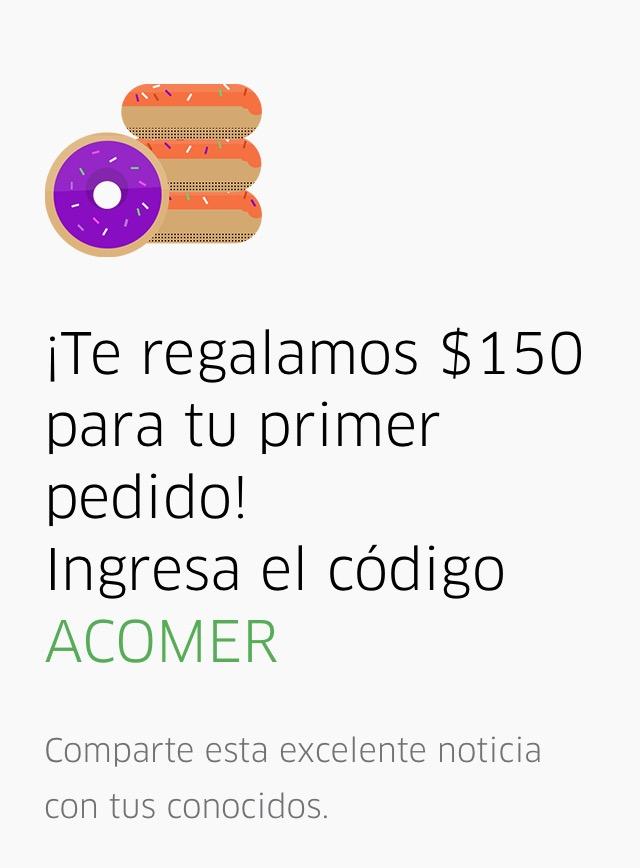 Uber CDMX: Uber Eats a partir del 6 de octubre ($150 para todos)