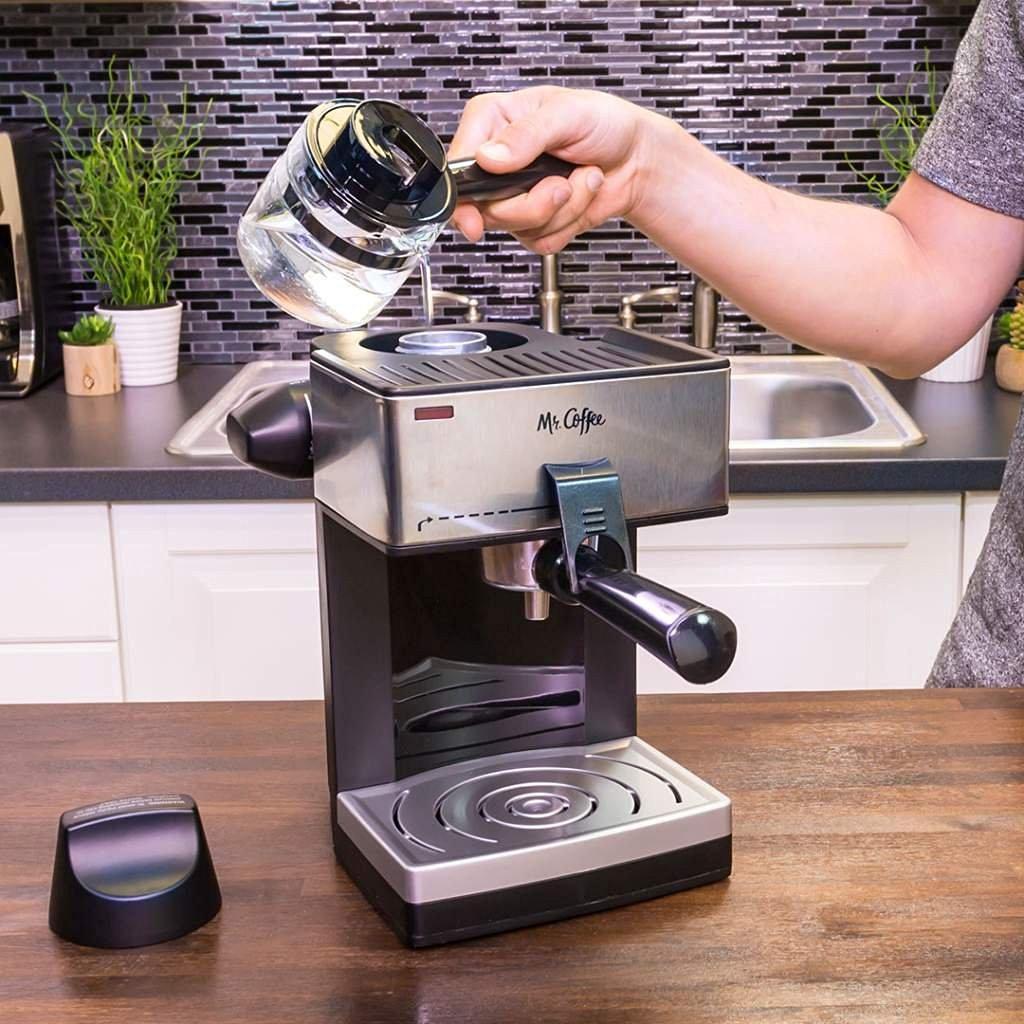 Amazon: Mr. Coffee Negro y plateado