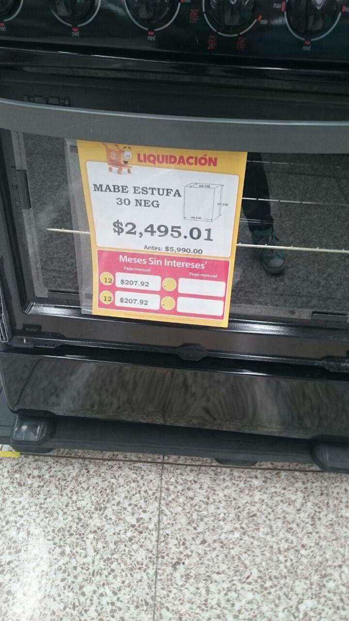 Walmart Las Animas Puebla: Estufa Mabe a $2,495