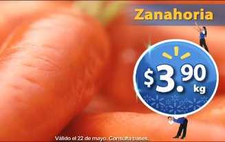 Martes de Frescura Walmart mayo 21: zanahoria $3.90, melón $5.90 y más