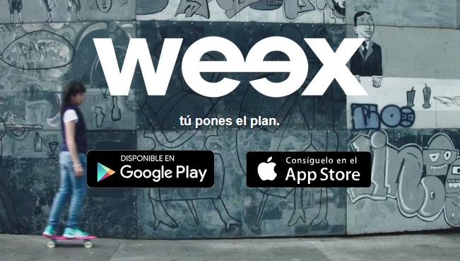 WEEX: Gratis sim PIDIÉNDOLO DESDE LA APP con 20 pesos de saldo y 1 mes de Whatsaap & FB