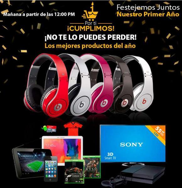 Ofertas de aniversario walmart.com.mx: audífonos Beats $891