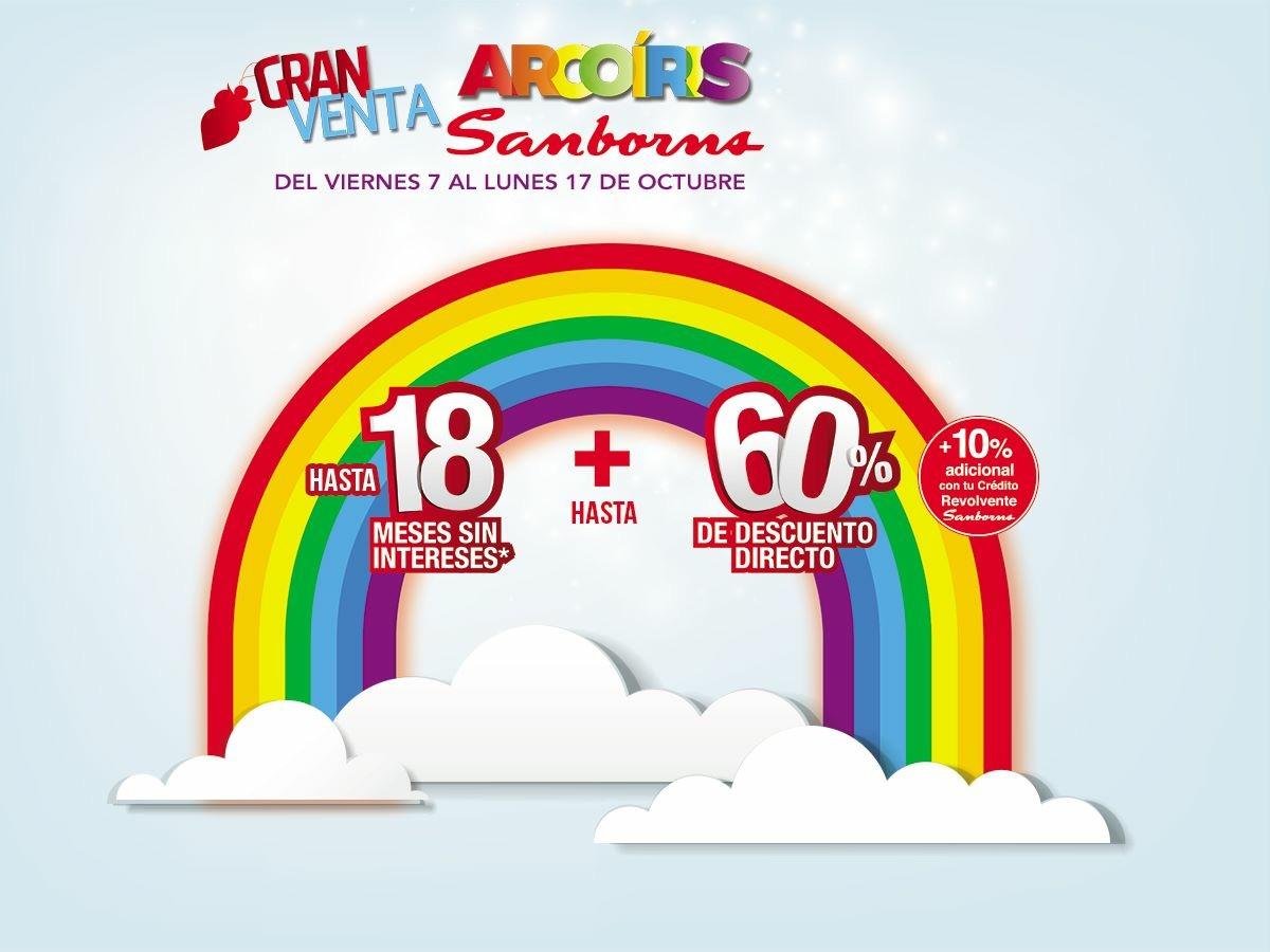 Sanborns: Gran venta arcoiris del 7 al 17 de octubre
