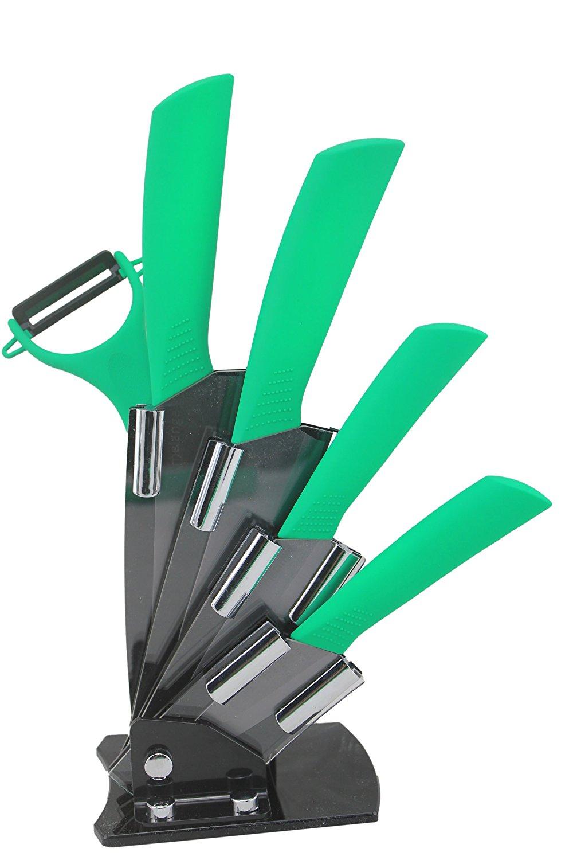 Amazon: cuchillos y pelador de cerámica 6 piezas con base a $198.70