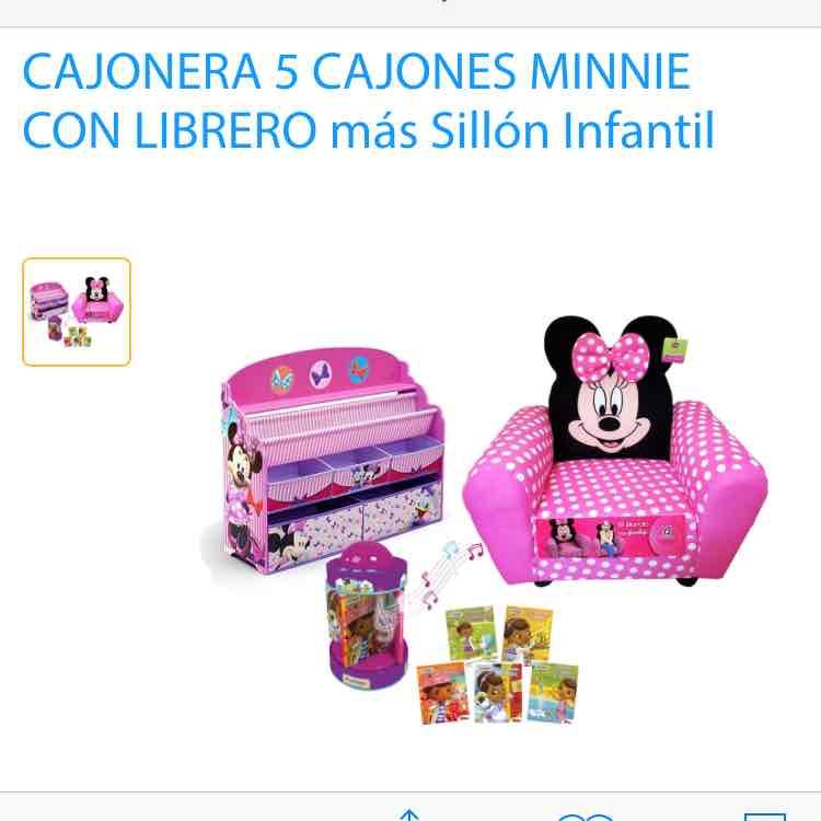 Walmart en línea: cajonera + sillon infantil + lampara a $1,890