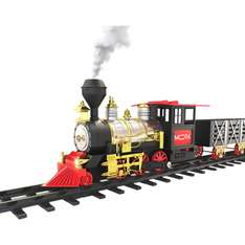 Amazon: Set de tren juguete con luz, sonido y humo real, MOTA $610.68