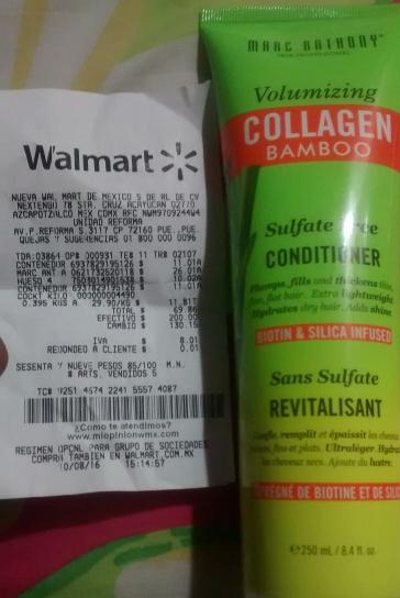 Walmart Puebla: Acondicionador Collagen Bamboo