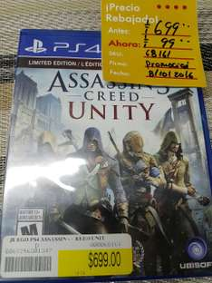 Office Depot: Assassin's Creed: Unity para PS4 a $99
