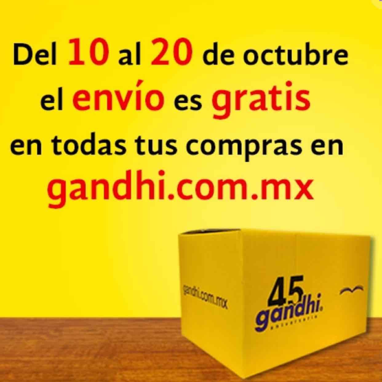 Librerías Gandhi: envío GRATIS del 10 al 20 de octubre