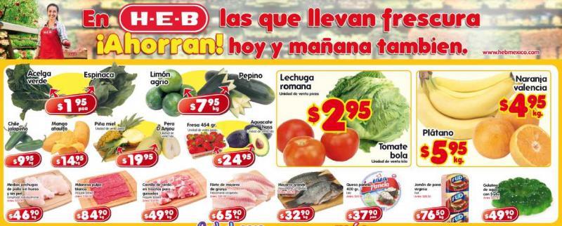 Frutas y verduras HEB: tomate $2.95, acelga $1.95 y más