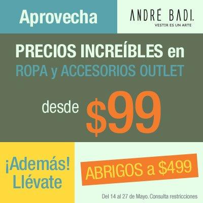André Badi: ropa y accesorios outlet desde $99 y más