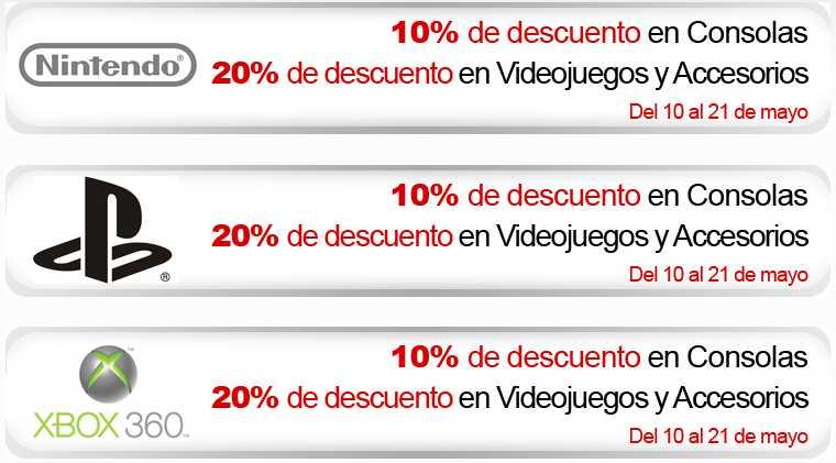 Sanborns: 20% de descuento en todos los videojuegos y accesorios y 10% en consolas