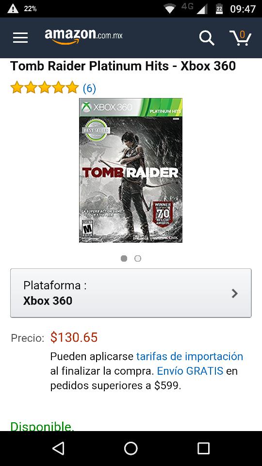 Amazon: Tomb Raider para Xbox 360 (Inicia tu Coleccion de Clasicos)