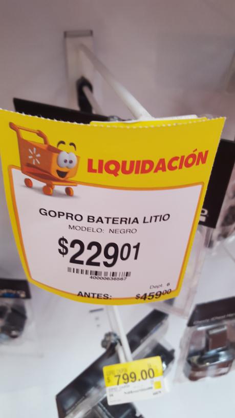 Walmart Toluca Santin: Bateria Recargable Go Pro Hero 3+/3 a $229.01, ventilador Lasko a $249.03