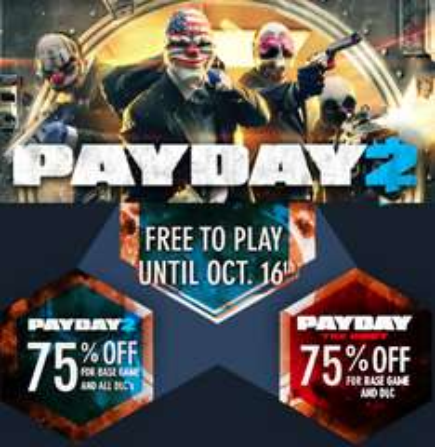 Steam: PayDay 2 GRATIS desde hoy hasta el domingo