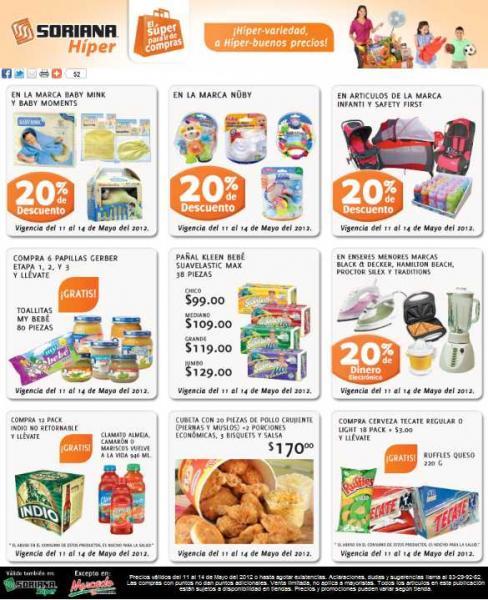 Soriana: 20% en monedero en electrodomésticos, descuentos en artículos para bebés y más