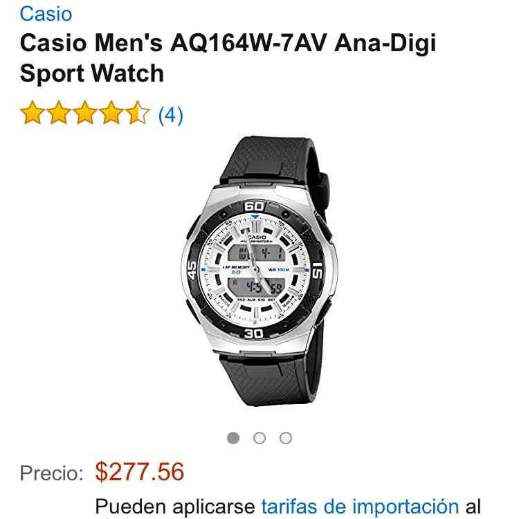 Amazon.mx: Relol Casio para hombre $277
