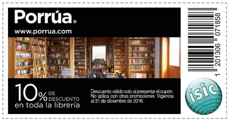 Librería Porrúa: 10% de descuento con cupón