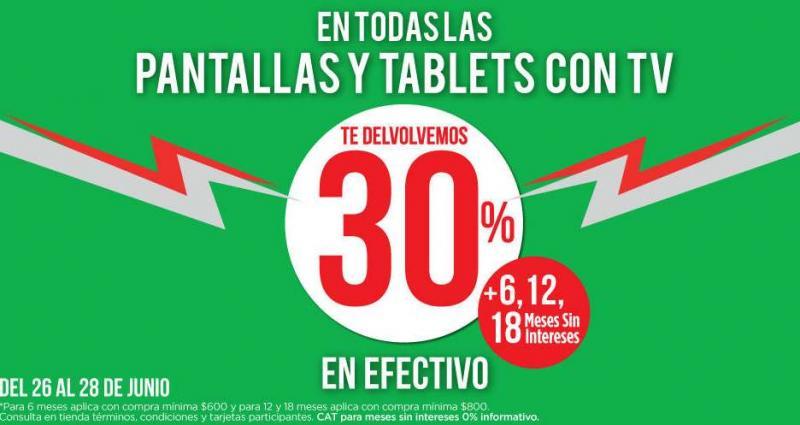 Suburbia: 30% de devolución en efectivo y 18 meses sin intereses en pantallas y tablets con TV