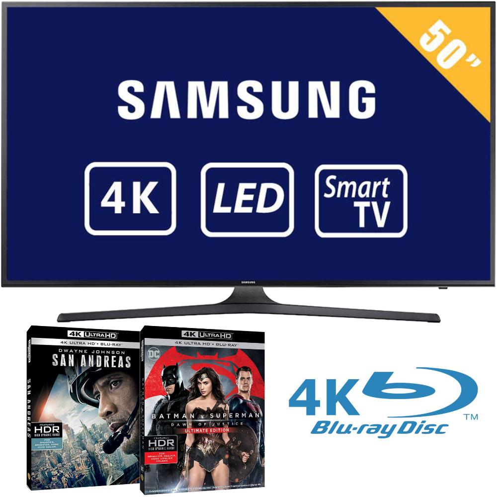 Walmart: TV Samsung 50 Pulgadas 4K con 2 discos Blu-ray 4K en $11,999