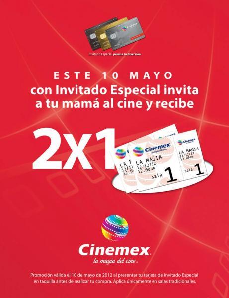 Cinemex: 2x1 con tarjeta de invitado especial