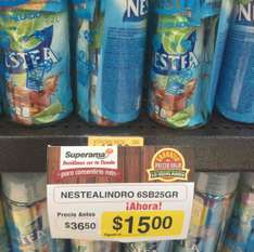 Superama Patio Pedregal: termo y 6 sobres Nestea a $15