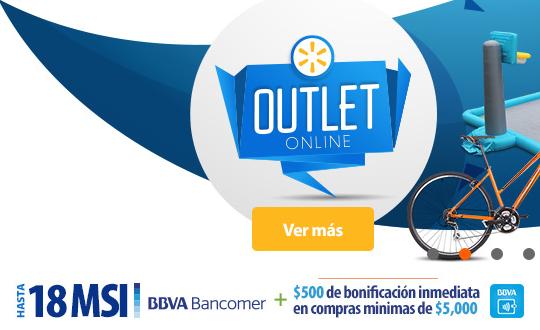 Walmart: 18 MSI y $500 de descuento con Bancomer y Bancomer Wallet (mín $5,000)