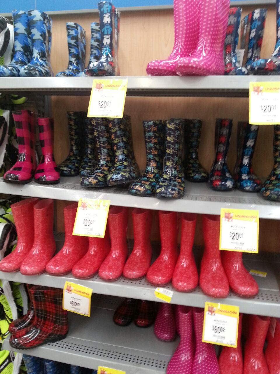 Walmart Cd Jardin: botas de lluvia infantil a $20.01