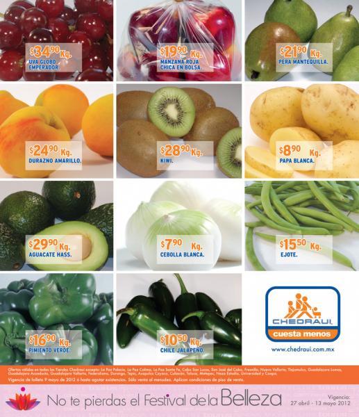 Miércoles de frutas y verduras Chedraui mayo 9: todos los mangos $7.90, todos los manojos $1.70 y más
