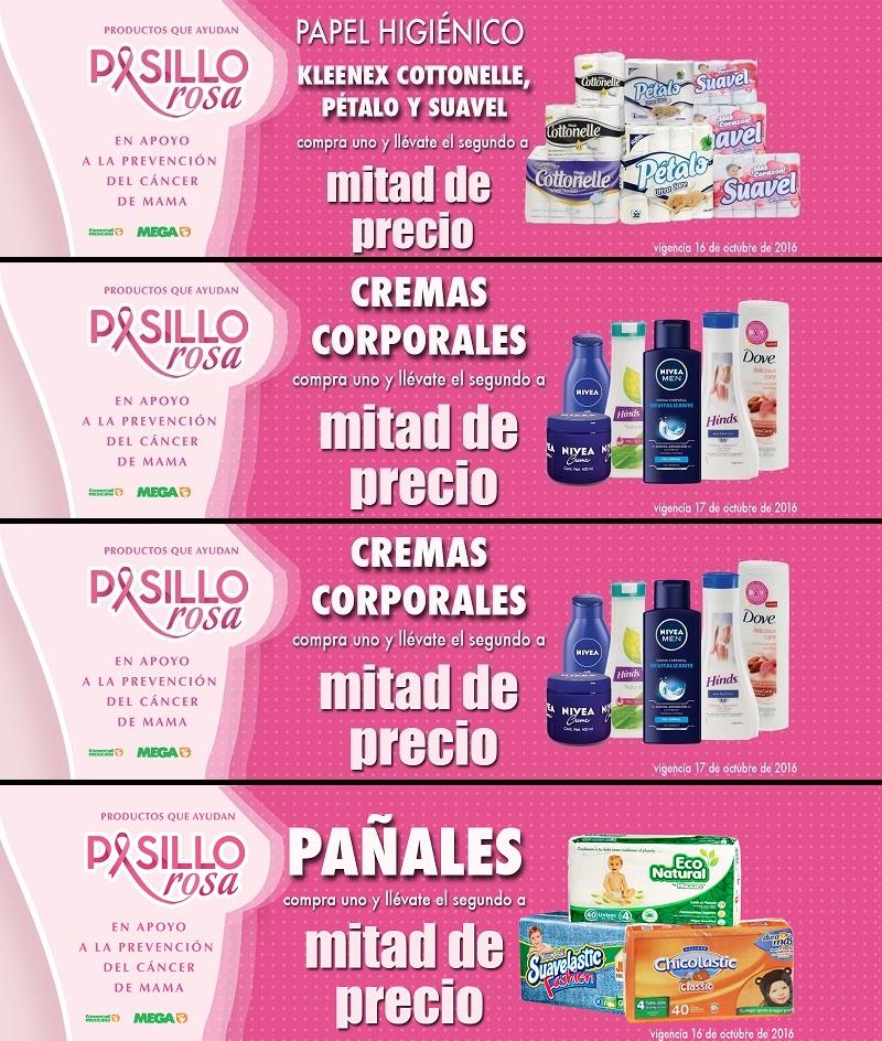 Comercial Mexicana y Mega: 2 x 1½ en pañales, papel higiénico Cottonelle, Pétalo, Suavel, cremas corporales y suéteres y chamarras Cherokee