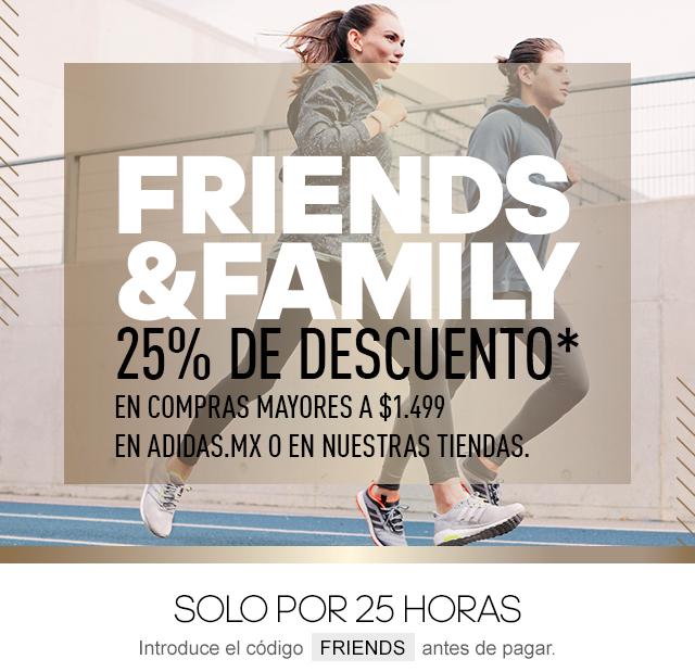 Adidas: cupón 25% de descuento (compras mayores a $1499)
