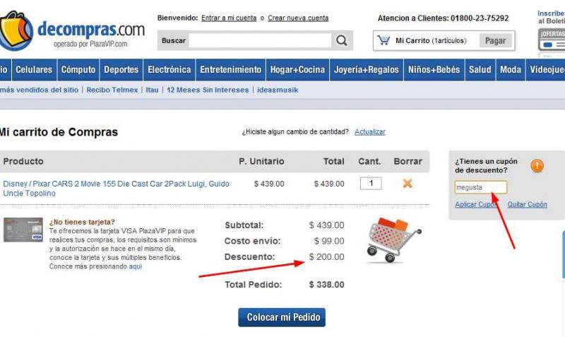 Decompras.com: $200 de descuento en compras de $400+ de Amazon