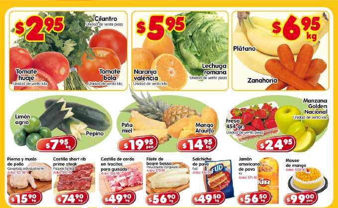 Frutas y verduras HEB: tomate $2.95, plátano $6.95 y más
