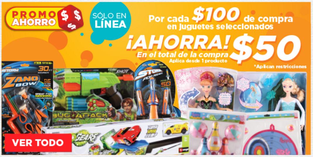 HEB: 50 pesos de descuento por cada 100 en juguetes seleccionados (desde 1Pza) solo en línea.