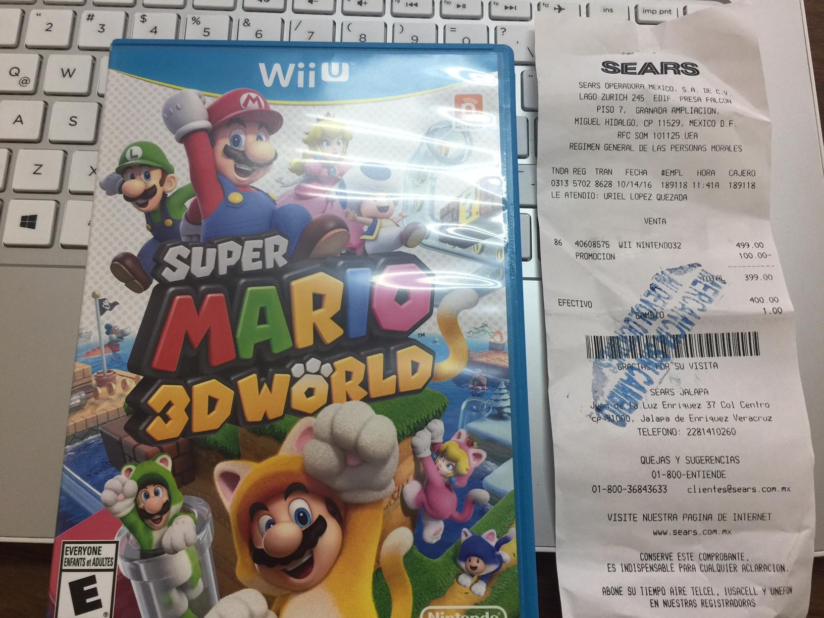 Sears Jalapa: Super Mario 3D World Wii U