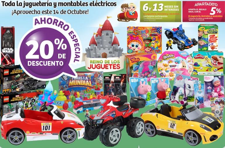 Soriana Híper: 20% de descuento en toda juguetería y montables eléctricos sólo hoy
