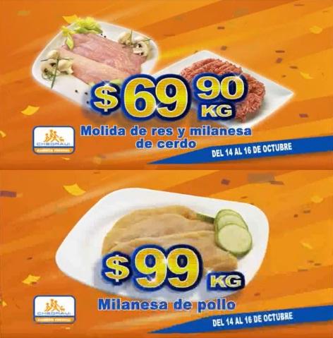 Chedraui: Fin de semana de Carnes: Molida de res o milanesa de cerdo $69.90 kg; Milanesa de pollo $99 kg.