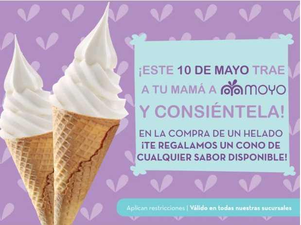 Moyo Frozen Yoghurt: 2x1 el 10 de mayo si vas con tu mami (todas las sucursales)